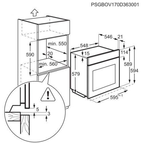 Духовые шкафы AEG BSK575221M