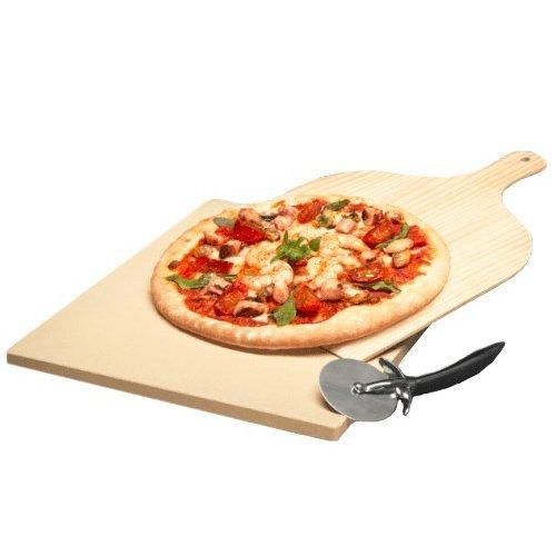 Аксессуары для бытовой техники Камень для приготовления пиццы в духовом шкафу в наборе с деревянной лопаткойножем