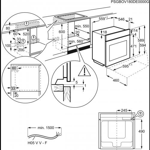 Духовые шкафы Electrolux EOB55450AX
