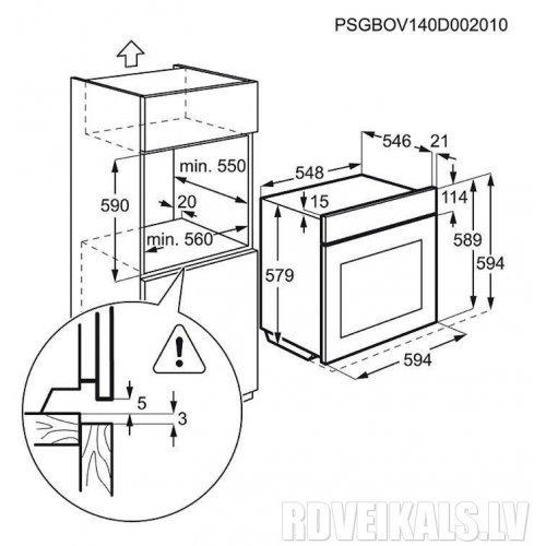 Духовые шкафы Electrolux EOC5851ZOZ