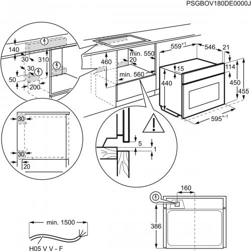 Компактные духовые шкафы и пароварки Electrolux EVY7800ZOZ