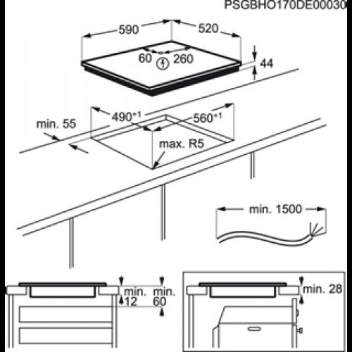 Варочные поверхности Electrolux IPE6450KF