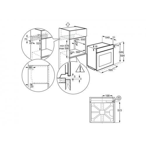 Духовые шкафы Electrolux OED3H50TX