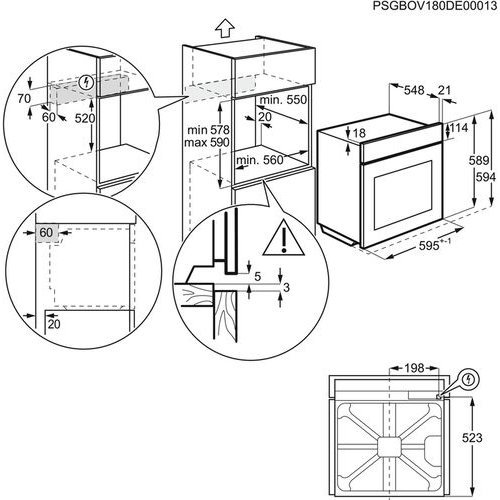 Духовые шкафы Electrolux OKC5H50W