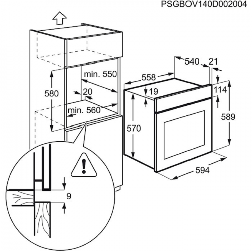 Духовые шкафы Electrolux OPEA4300X