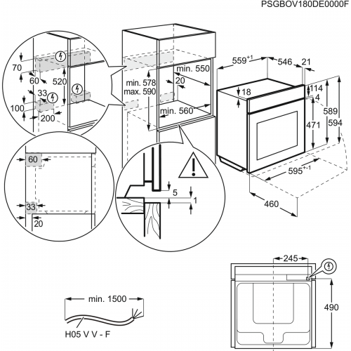 Духовые шкафы Electrolux OPEA7553M