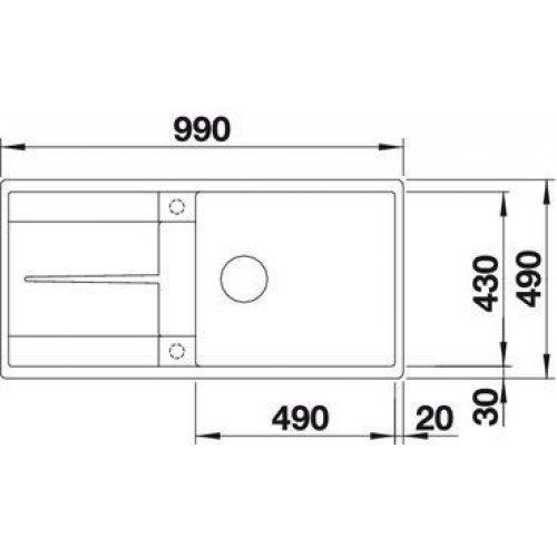 Кухонные мойки Blanco METRA XL 6 S-F
