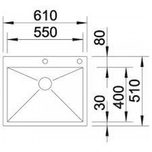 Кухонные мойки Blanco ZEROX 550-IF/А