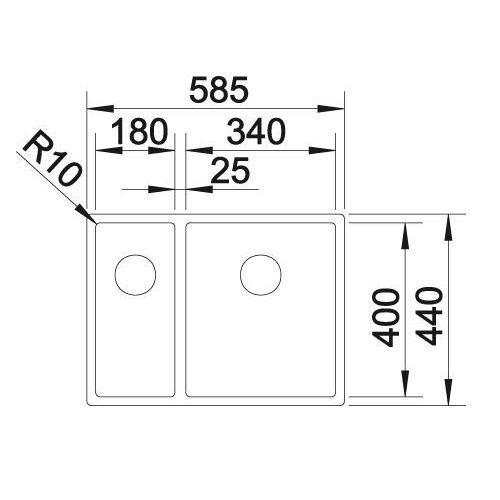 Кухонная мойка Blanco CLARON 340/180-IF