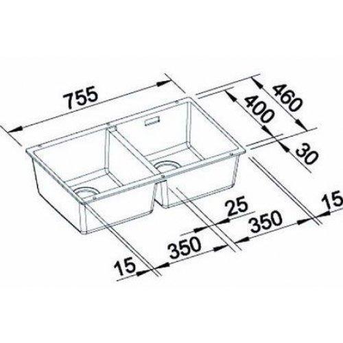 Кухонные мойки Blanco SUBLINE 350/350-U