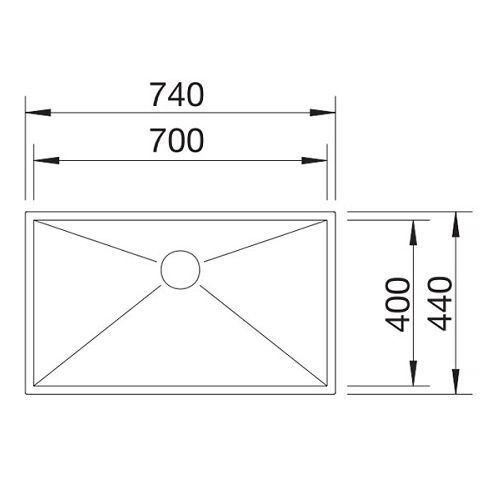 Кухонные мойки Blanco ZEROX 700-IF