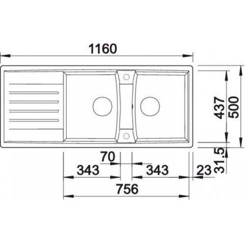Кухонные мойки Blanco LEXA 8 S