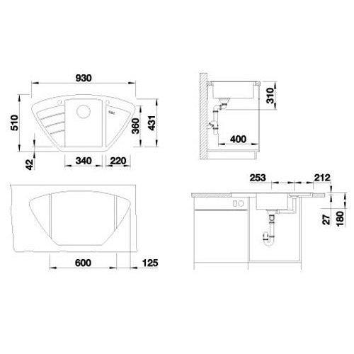 Кухонные мойки Blanco ZIA 9 E