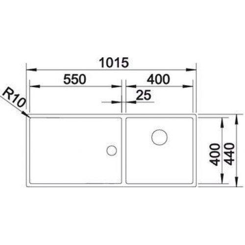 Кухонные мойки Blanco ZEROX 400/550-Т-U