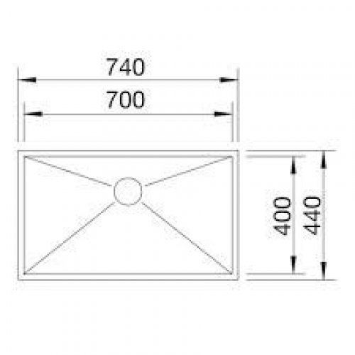 Кухонные мойки Blanco ZEROX 700-U