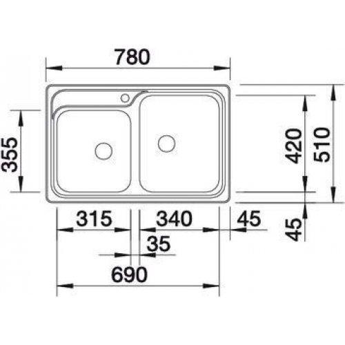Кухонные мойки Blanco CLASSIC 8