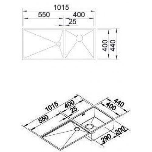 Кухонные мойки Blanco ZEROX 400/550-Т-IF
