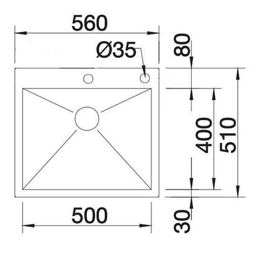 Кухонные мойки Blanco ZEROX 500-IF/А