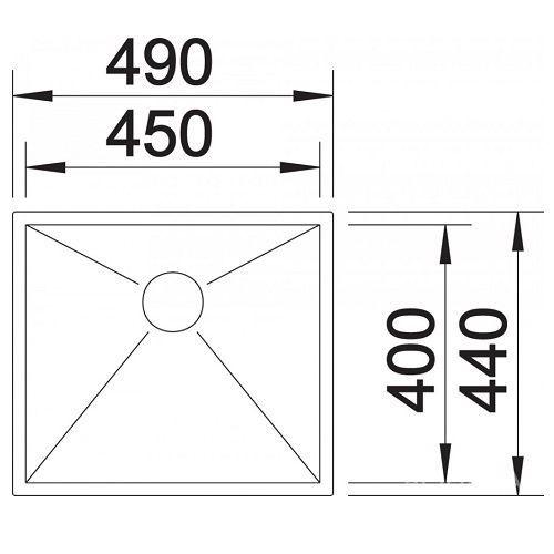 Кухонные мойки Blanco ZEROX 450-U