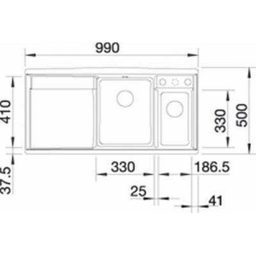 Кухонные мойки Blanco AXIA 6 S-F