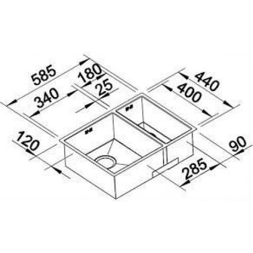 Кухонные мойки Blanco ZEROX 340/180-IF/А