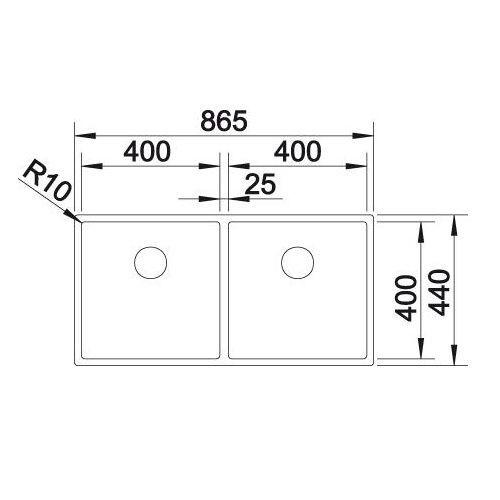 Кухонные мойки Blanco CLARON 400/400-U