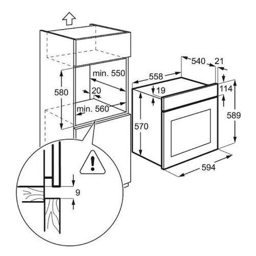 Духовые шкафы Electrolux EZB52410AW