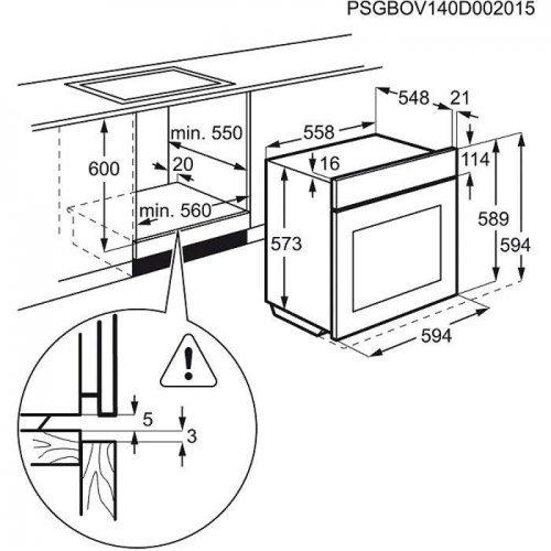 Духовые шкафы Electrolux EOB93450AX