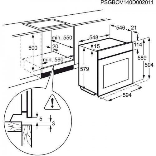 Духовые шкафы Electrolux OPEA4554X
